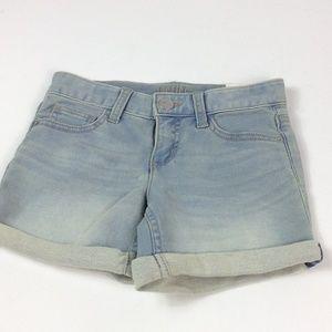 Justice denim shorts with cuffed hem